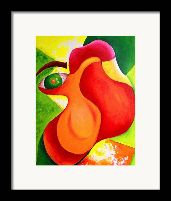 Vivid Contemporary Abstract Framed Print featuring the painting Anxiety by Shasta Miller