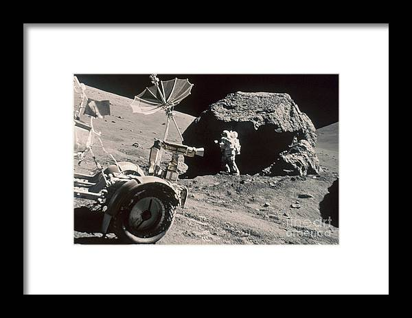1972 Framed Print featuring the photograph Apollo 17, December 1972: by Granger