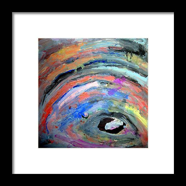Abstract Framed Print featuring the painting ArtLeigh by Leigh Odom