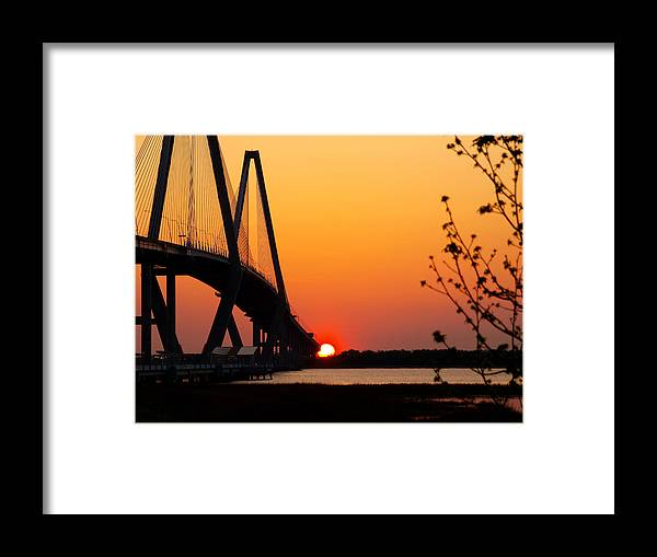 Ann Keisling Framed Print featuring the photograph At The End Of The Bridge by Ann Keisling