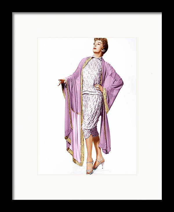 1950s Portraits Framed Print featuring the photograph Auntie Mame, Rosalind Russell, 1958 by Everett