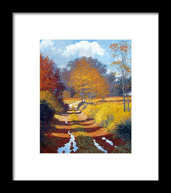 Landscape Framed Print featuring the painting Autumn by Kevin Lawrence Leveque