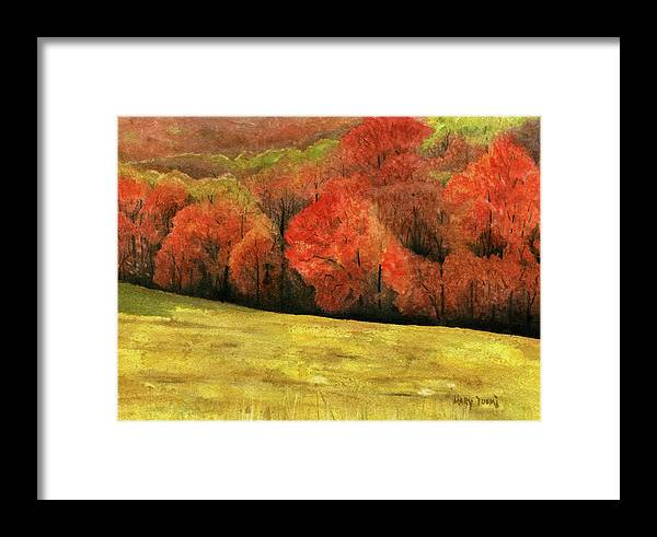 Autumn Framed Print featuring the painting Autumn Splendor by Mary Tuomi