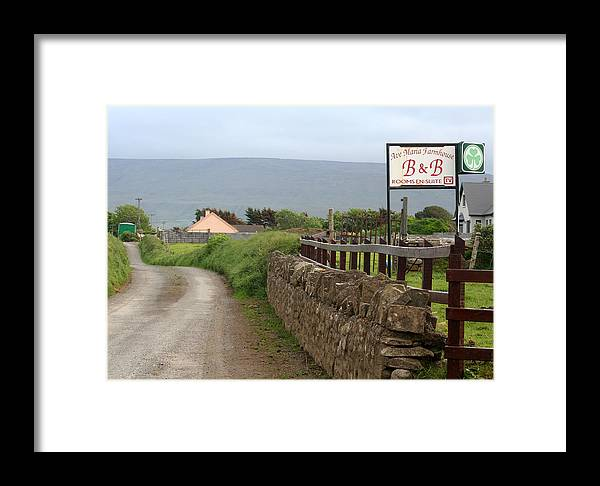 Ireland Framed Print featuring the photograph Ave Maria Bed And Breakfast by Beverlee Singer