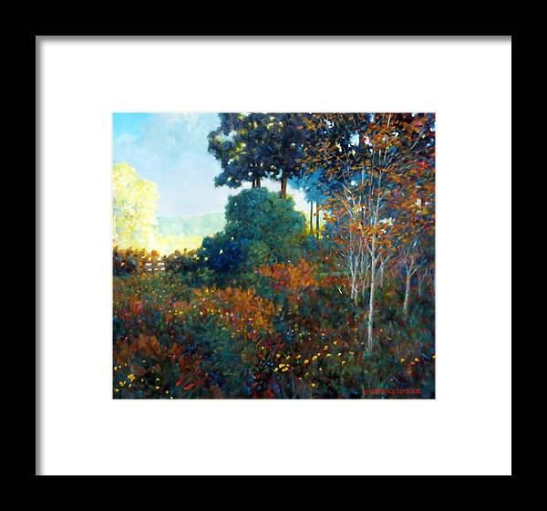 Landscape Framed Print featuring the painting Back Gate by Kevin Lawrence Leveque