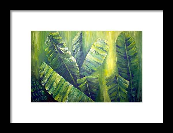 Bananas Framed Print featuring the painting Bananas by Carol P Kingsley