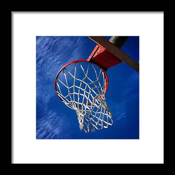 Miamiphotographers Framed Print featuring the photograph Basketball Hoop #juansilvaphotos by Juan Silva