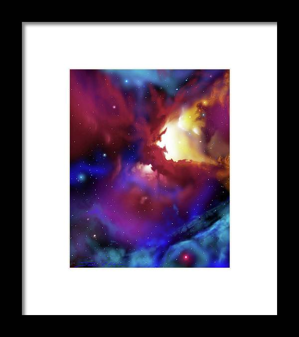 James Christopher Hill Framed Print featuring the painting Bat Nebula by James Christopher Hill