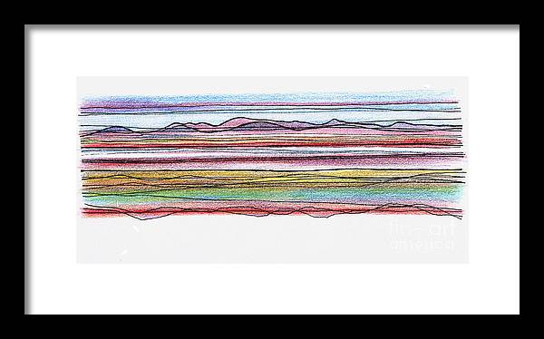 Bay Framed Print featuring the digital art Bay Lines by Andy Mercer