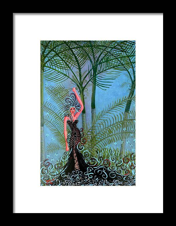 Couture Artwork Framed Print featuring the painting Bayou Couture by Helen Gerro
