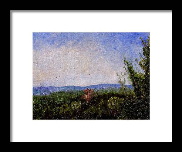 Plein Air Framed Print featuring the painting Bcsp 1 by Stan Hamilton