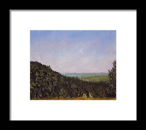 Plein Air Framed Print featuring the painting Bcsp 3 by Stan Hamilton