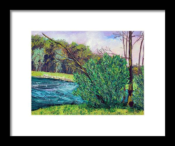 Plein Air Framed Print featuring the painting Bcsp 5 18 by Stan Hamilton
