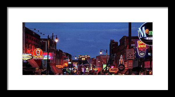 Sunsets Framed Print featuring the photograph Beale Street, Memphis by John Nelson