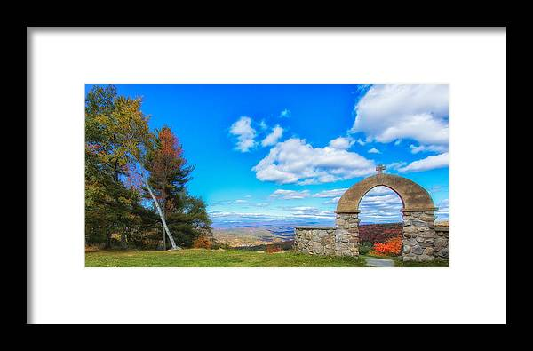 Chapel Of The Holy Name Framed Print featuring the photograph Beauty Found At The Arch by Rachel Snydstrup