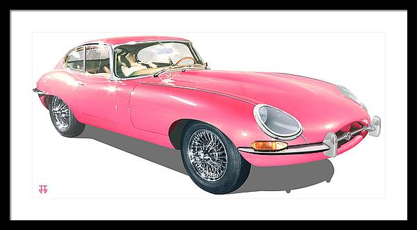 Car Posters Framed Print featuring the digital art Beauty In Pink by Jose Gomis