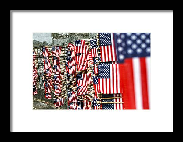Flag Framed Print featuring the photograph Because Of The Brave by Kerry Langel