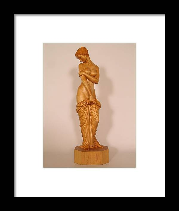 Nude Framed Print featuring the sculpture Before The Bath by Thu Nguyen