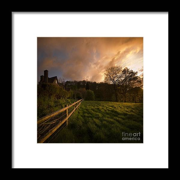 Rural Framed Print featuring the photograph Behind The Fence by Angel Ciesniarska