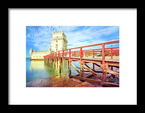 Lisbon Framed Print featuring the photograph Belem Tower Lisbon by Benny Marty