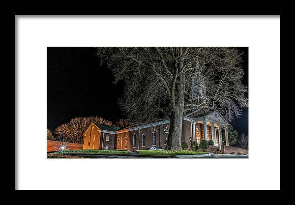 Belle Meadows Baptist Church Framed Print featuring the photograph Belle Meadows Baptist Church by Dion Wiles