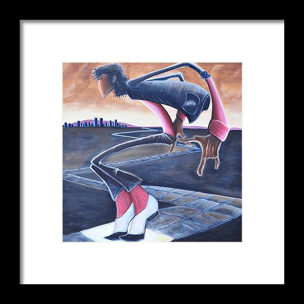Mj Framed Print featuring the painting Billie Jean by Tu-Kwon Thomas