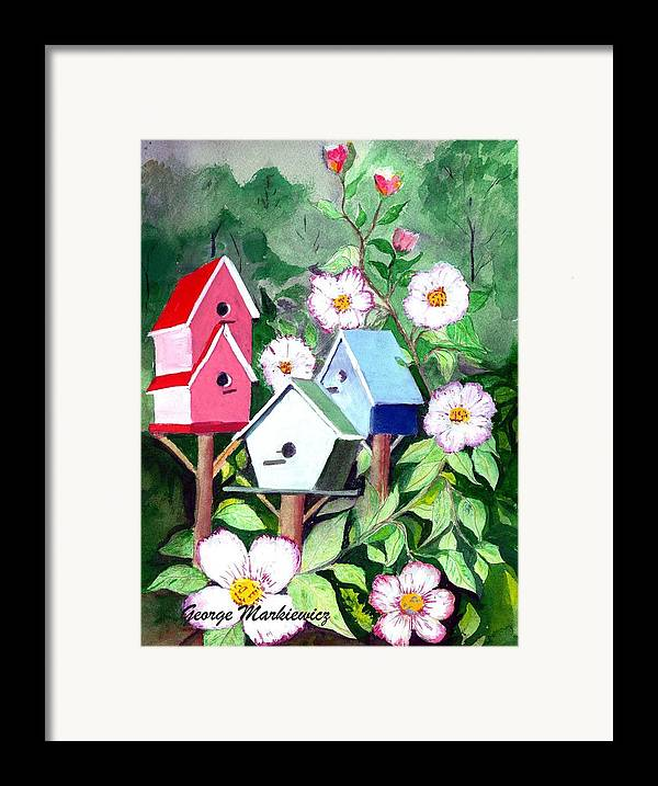 Birdhouse Framed Print featuring the print Birdhouse by George Markiewicz