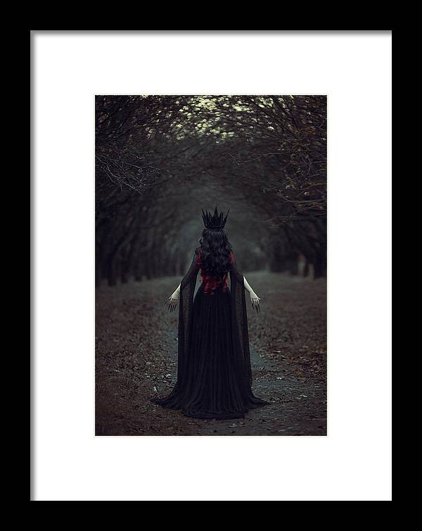 Queen Framed Print featuring the photograph Black Queen by Maryna Khomenko