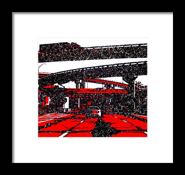 Industrial Framed Print featuring the painting Bloody95 by Jason Charles Allen