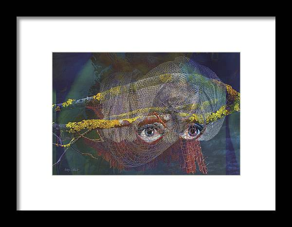 Fantasy Framed Print featuring the digital art Blowfish by Helga Schmitt