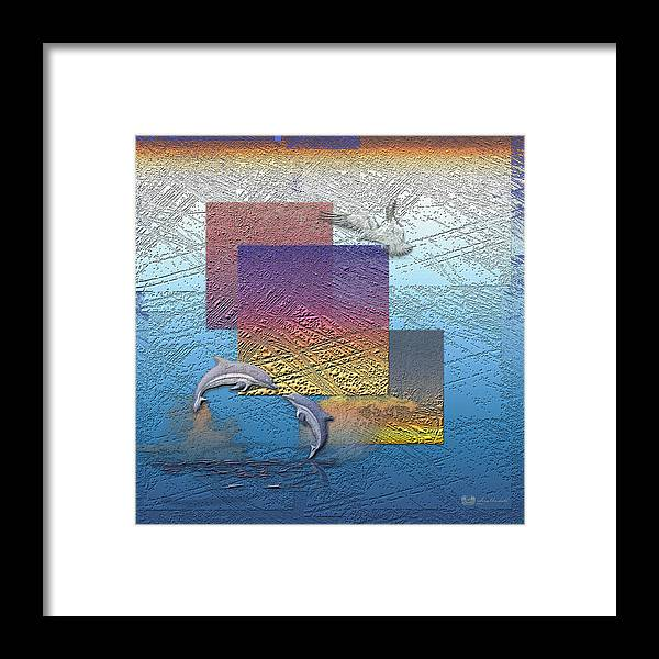 �from Dusk Till Dawn� Collection By Serge Averbukh Framed Print featuring the photograph Blue Lagoon Sunrise by Serge Averbukh