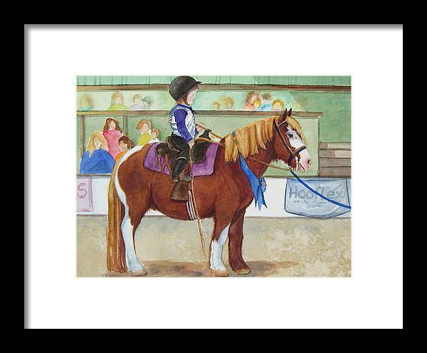 Equine Framed Print featuring the painting Blue Ribbon Day by Gina Hall