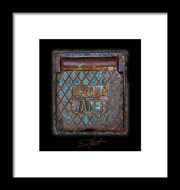 Water Framed Print featuring the photograph Blue Water by Charles Stuart