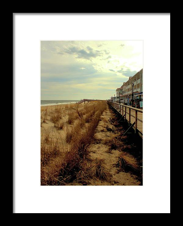 Dunes Framed Print featuring the photograph Boardwalk In Winter by Robert McCulloch