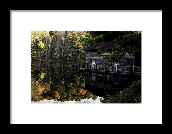 Framed Print featuring the photograph Boat-house by Lee Castidario