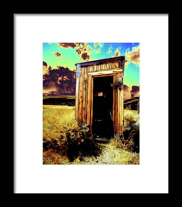 Bodie Framed Print featuring the photograph Bodie Outhouse by Jim And Emily Bush