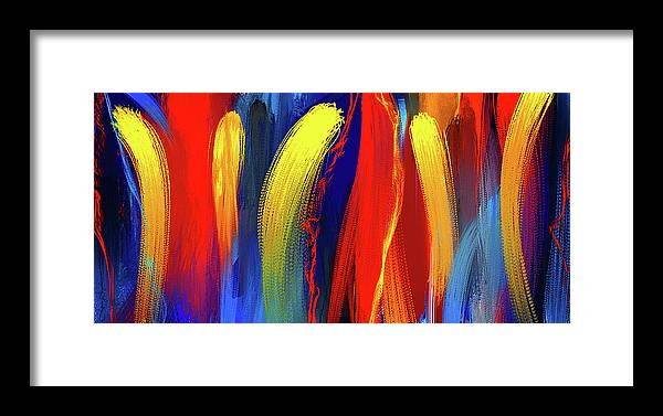 Be Bold Primary Colors Abstract Art Framed Print