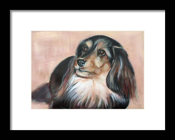 Framed Print featuring the painting Bonnie by Fiona Jack