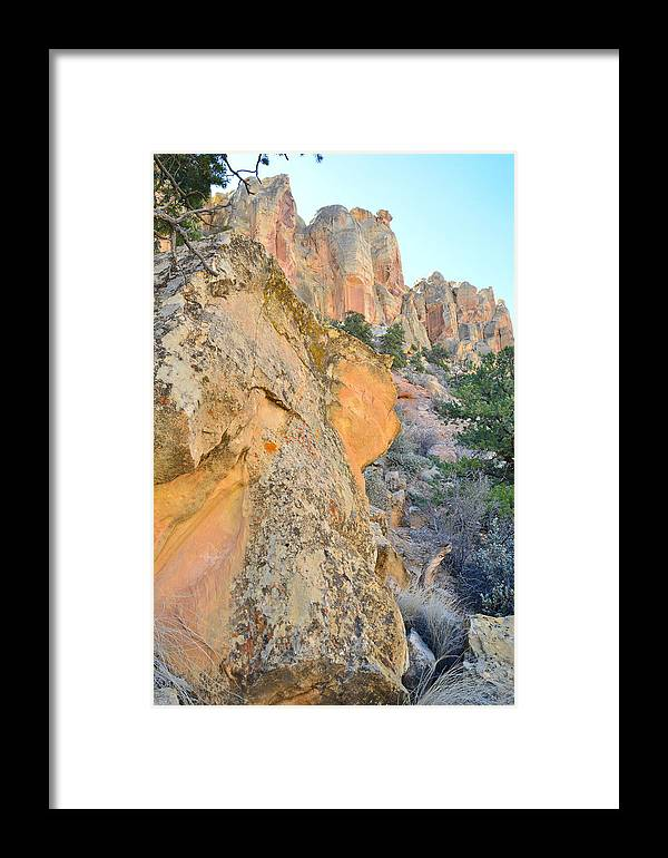 Grand Staircase Escalante National Monument Framed Print featuring the photograph Boulder-notom Buttes by Ray Mathis