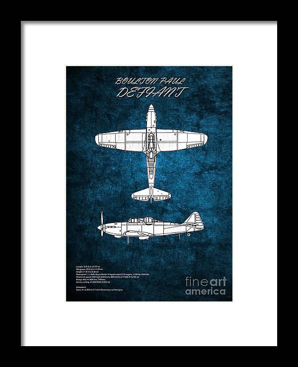 Defiant Framed Print featuring the digital art Boulton Paul Defiant by J Biggadike