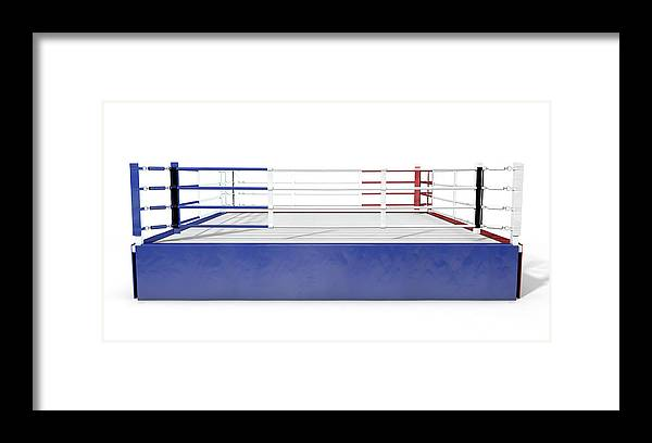 Boxing Ring Modern Isolated Framed Print by Allan Swart