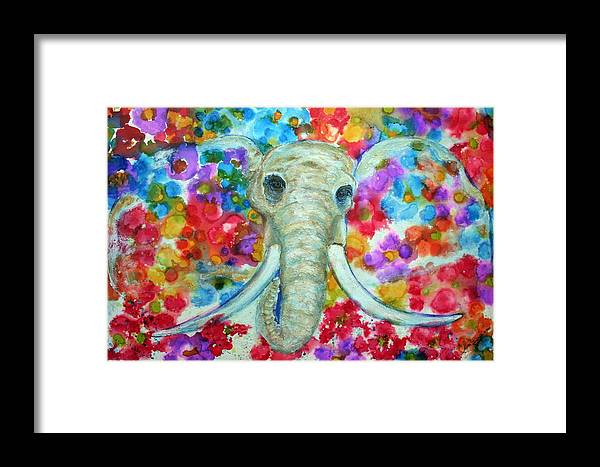 Multicolors Framed Print featuring the painting Breaking Free by Alma Yamazaki