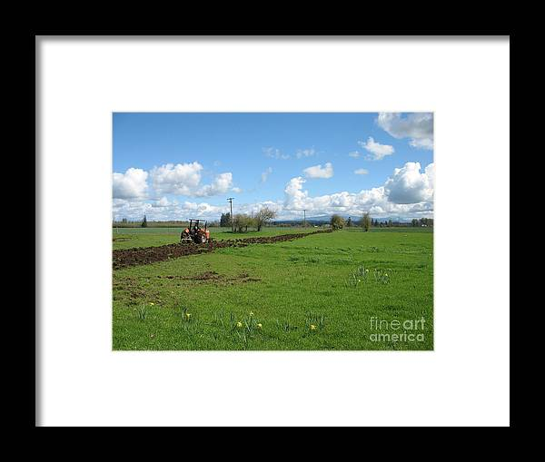 Tractor Framed Print featuring the photograph Breaking Ground by Juli House