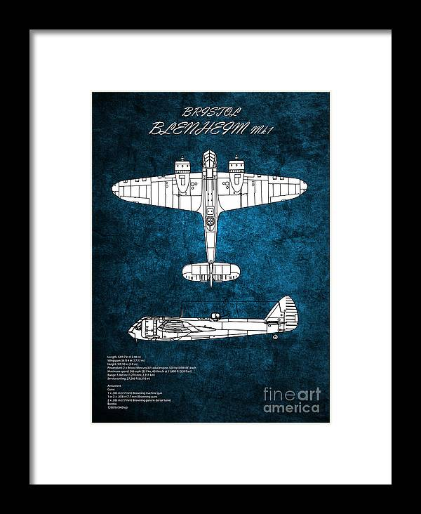 Blenheim Framed Print featuring the digital art Bristol Blenheim by J Biggadike