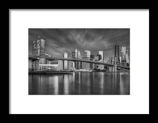 Brooklyn Bridge Framed Print featuring the photograph Brooklyn Bridge From Dumbo by Susan Candelario