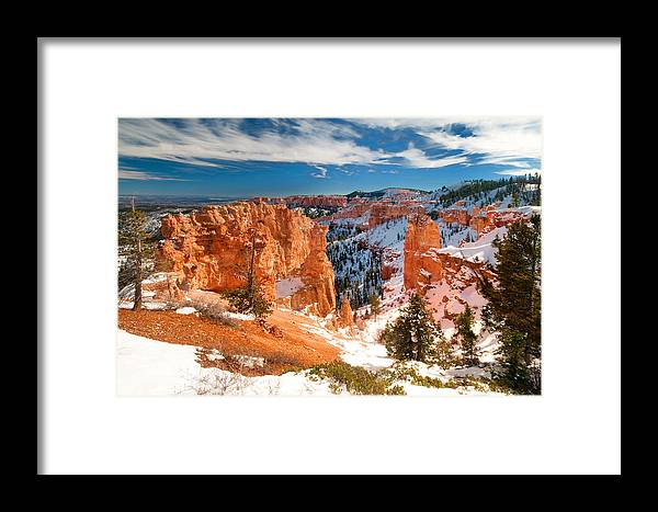 Bryce Framed Print featuring the photograph Bryce Canyon by Jacek Joniec