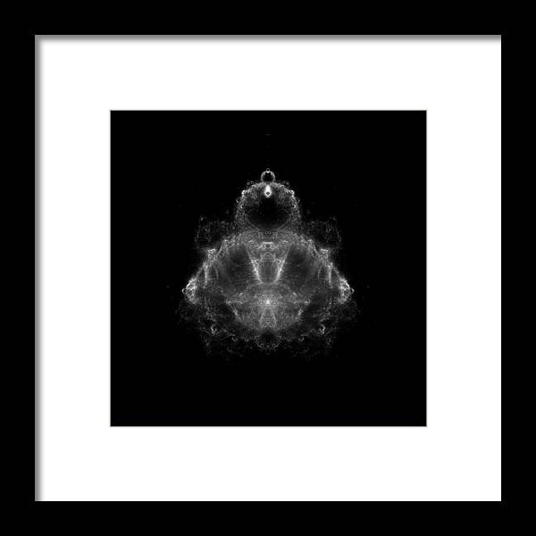 Fractal Framed Print featuring the digital art Buddha Fractal by Piece of Infinity