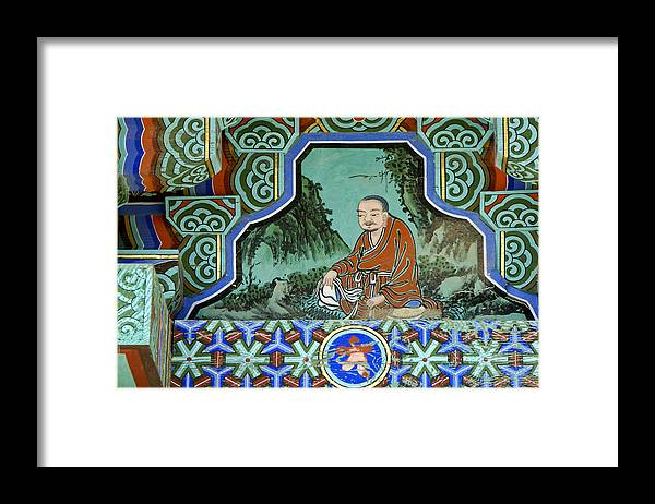 Buddha Framed Print featuring the photograph Buddhist Temple Art by Michele Burgess