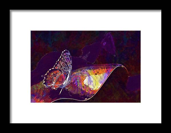Butterfly Framed Print featuring the digital art Butterfly Wings Insect Nature by PixBreak Art