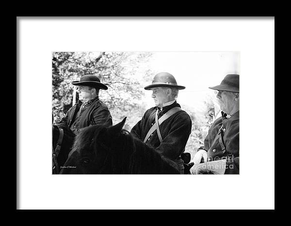 Virginia Framed Print featuring the photograph C S A Co. H 4th Virginia Cavalry Black Horse Troop 150th Anniversary Of The Civil War Warrenton Va. by Jonathan Whichard